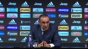 """Milan Juventus, Sarri mastica amaro: """"Blackout dopo 60 minut"""