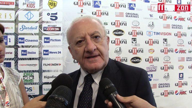 """De Luca al Giffoni Experience: """"Abbiamo l'urgenza di parlare con i giovani"""""""