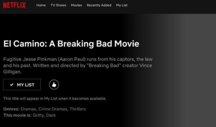 breaking bad, el camino