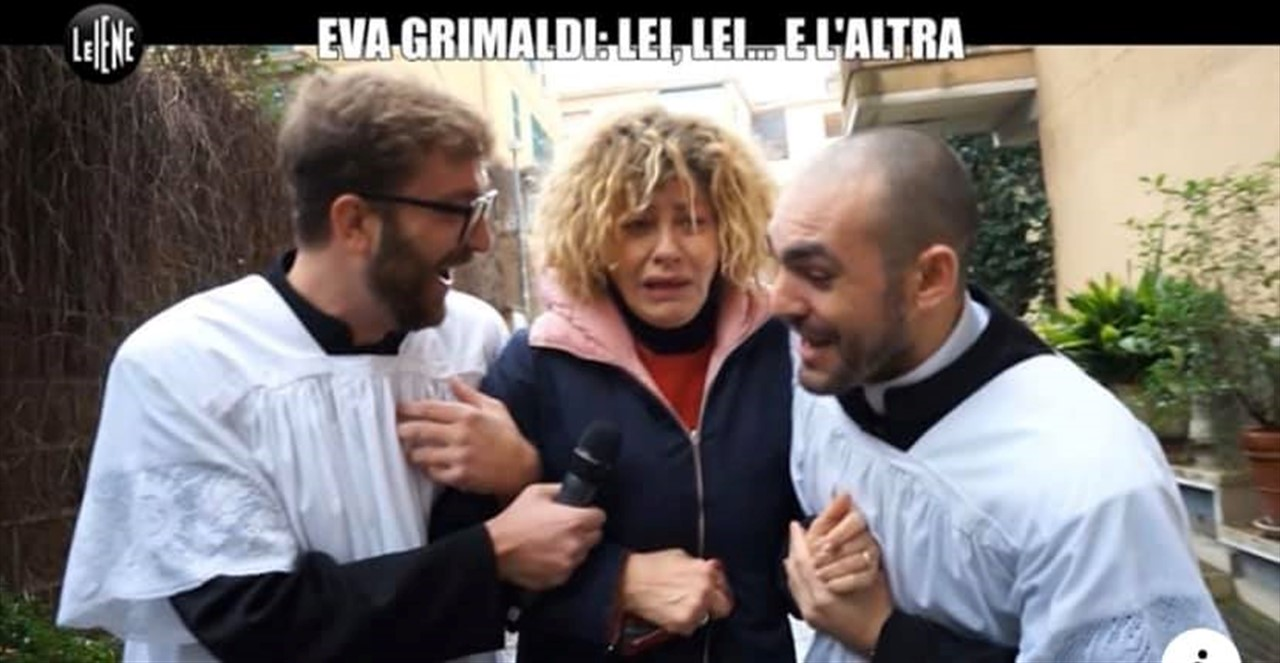 Eva Grimaldi, la moglie è andata con una suora? Le lacrime dell'attrice