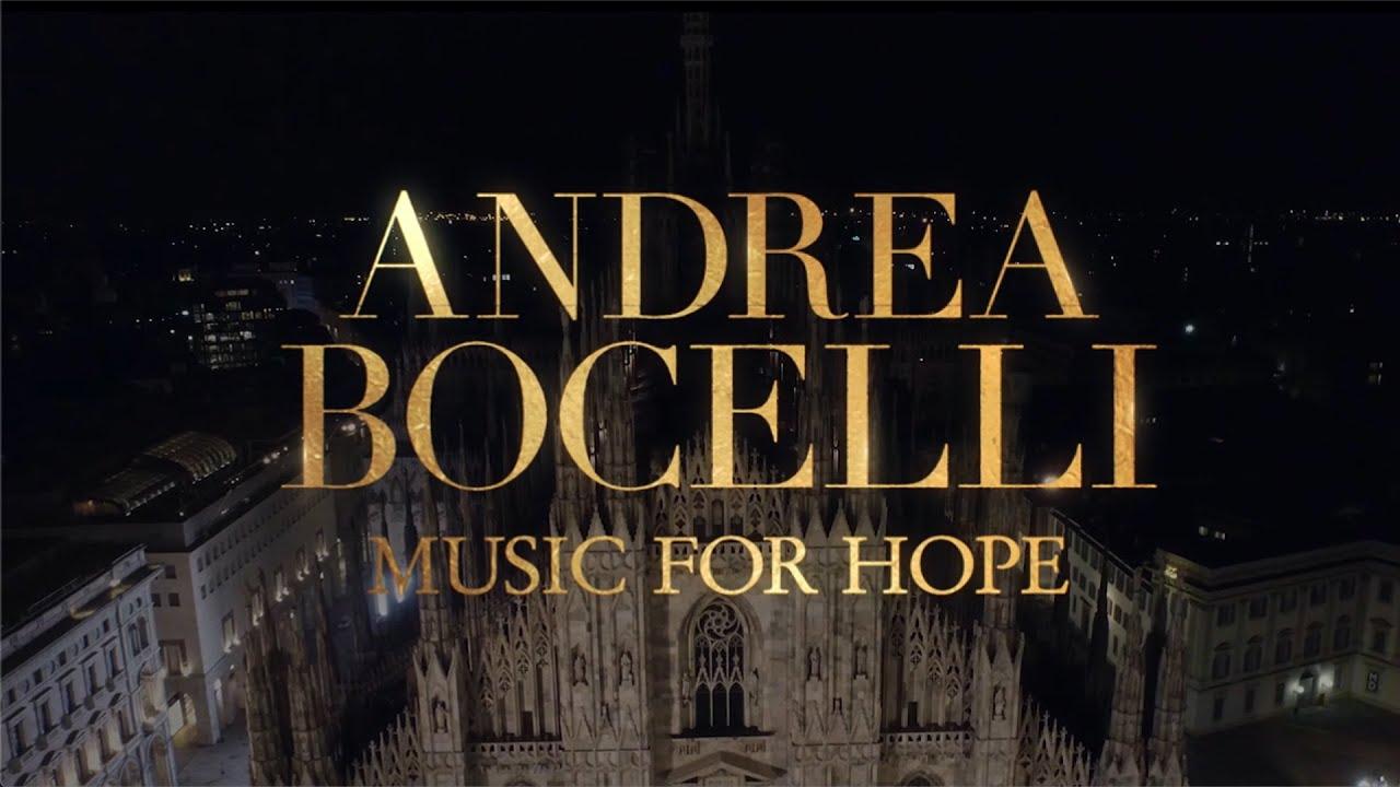 Nel Duomo vuoto il concerto della speranza di Bocelli: