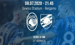 Atalanta Sampdoria, le probabili formazioni del match del 31