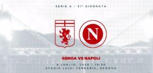 Genoa Napoli, le probabili formazioni del match