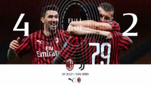 Milan Juventus 4 2, rimonta rossonera in sei minuti di fuoco