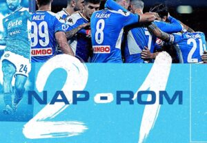 Napoli Roma 2 1, decide una prodezza di Insigne: torna in ca