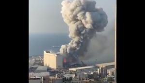 Beirut    Libano    devastata da un'esplosione in centro    almeno 10 morti