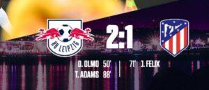 Lipsia Atletico Madrid 2 1: impresa dei tedeschi a Lisbona