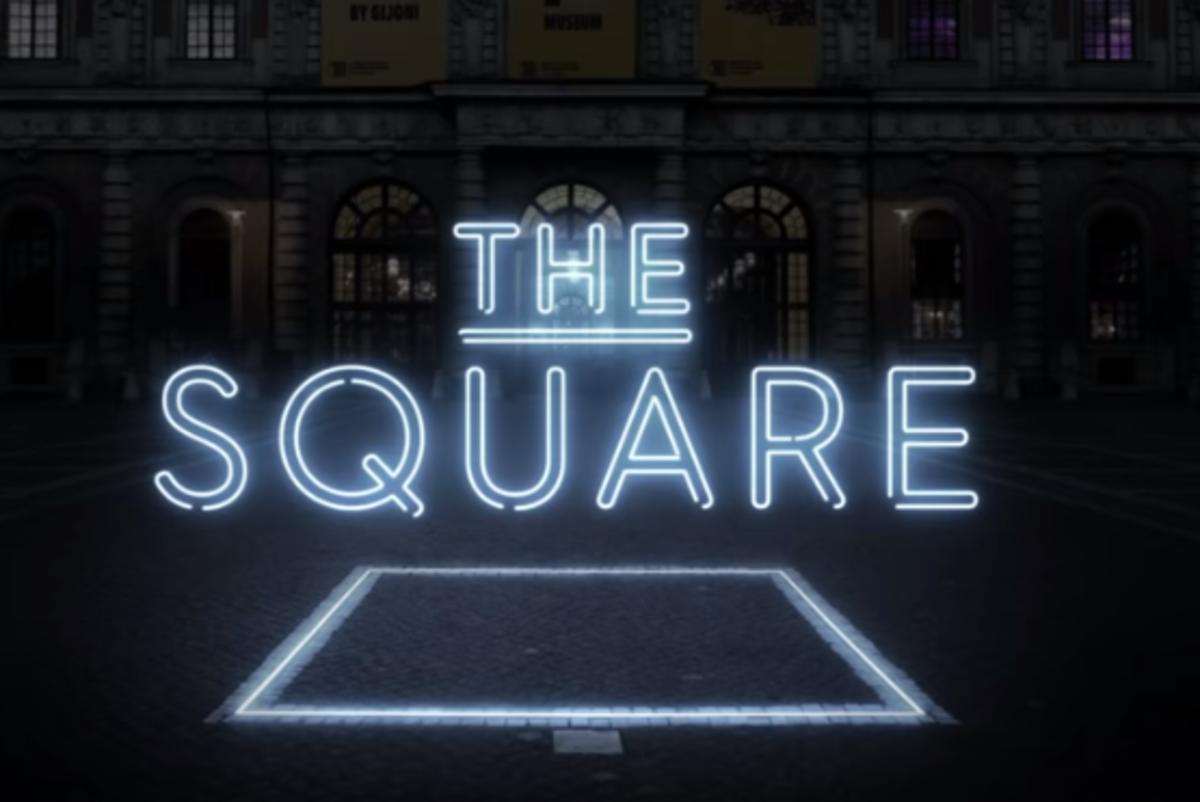 stasera in tv the square