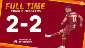 Roma Juventus 2 2, Ronaldo riprende Veretout due volte