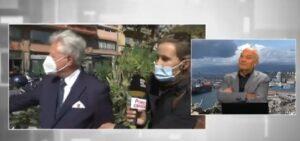 Ventimiglia: al sindaco viene rubato il giaccone in diretta tv
