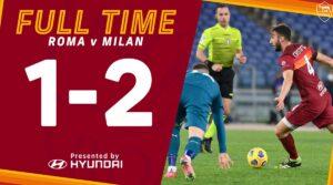 Roma-Milan 1-2 |  vittoria Champions per il Diavolo