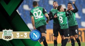 """Sassuolo – Napoli 3 3: nella vita ci vuole """"rigore"""""""