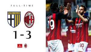 Parma Milan 1 3: il Diavolo la vince con i nervi