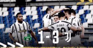 Il Sassuolo gioca, la Juventus segna: Ronaldo e Dybala fanno 100